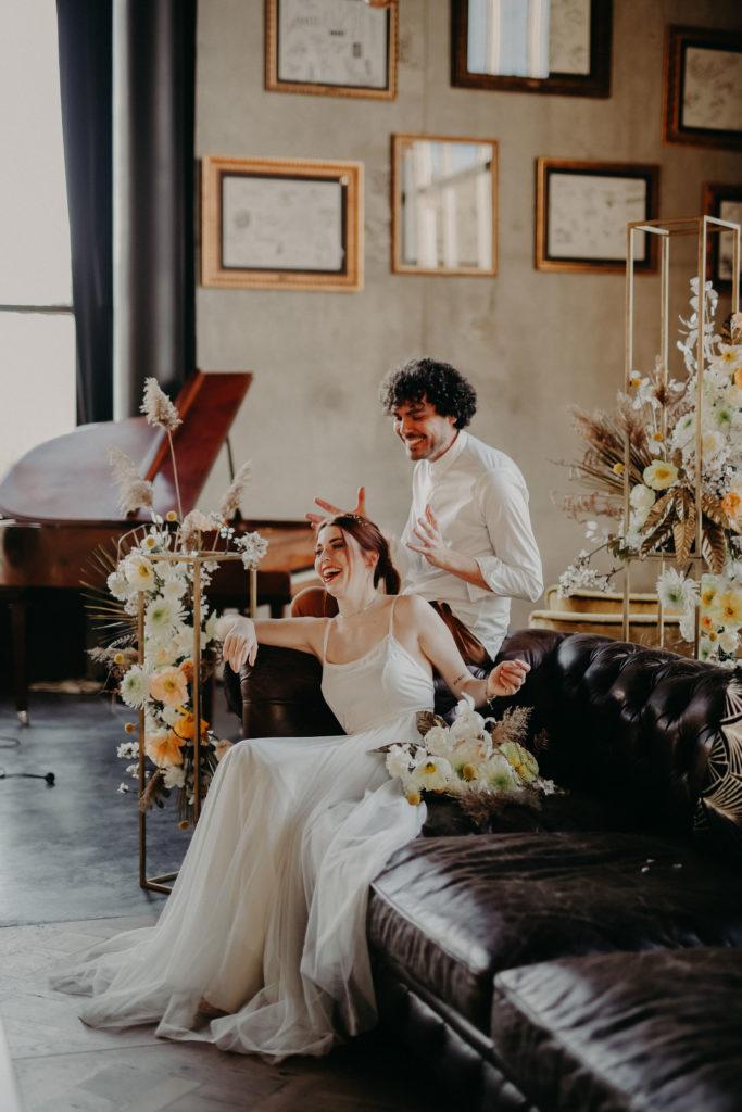 industrial French wedding